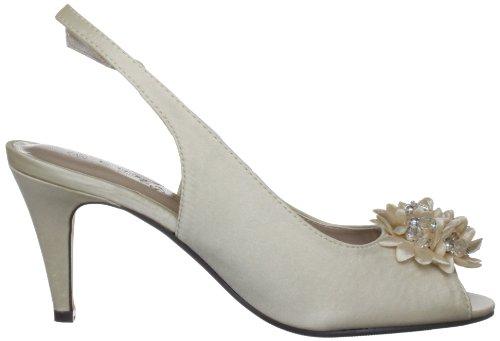 Lunar Flr081 - zapatos de tacón de material sintético mujer Blanco - beige