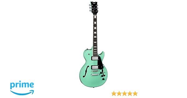 Amazon.com: Dean Guitars 6 String Dean Shire Semi Hollow Body Electric Guitar with Piezo - Aqua AQA: Musical Instruments