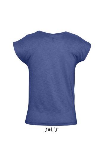 Sol 's–Women' s Camiseta de Short Scoop añil