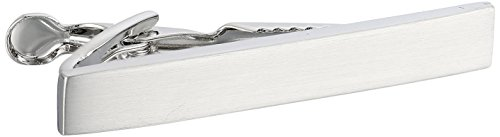 Kenneth Cole REACTION Men's Classic Tie Clip,Brushed Silver - Short,One Size ()