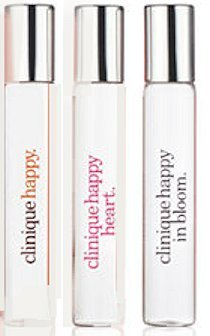 Clinique ''A Little Happiness'' set of 3 Perfumes: Happy, Happy at Heart & Happy in Bloom. Travel Size