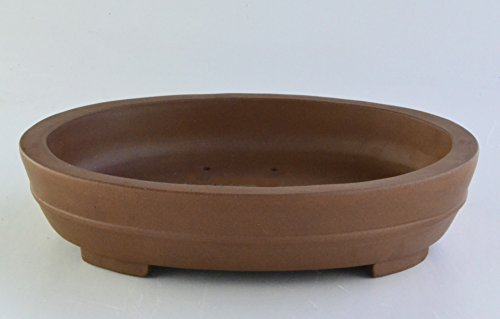 val Yixing Purple Clay Ceramic Bonsai Pot(PB2-21) (Oval Bonsai)