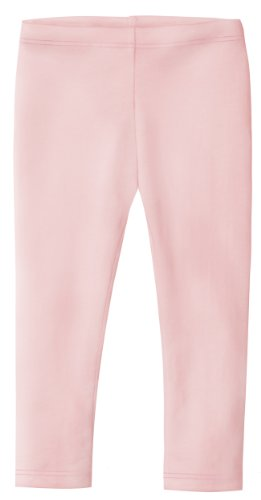Big Girls' Cotton Cropped Capri Summer Legging for Play and School SPD For Sensitive Skin Sensory Friendly, Leggings Pink 7