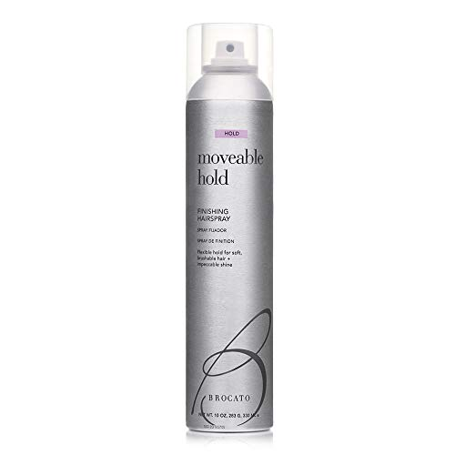 Brocato Moveable Hold Flexible Hairspray by Beautopia Hair: Anti-Humidity UV Protection Finishing Spray - 10 oz