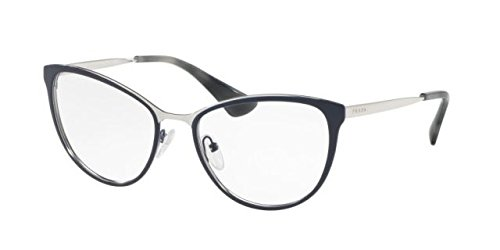 Prada Cinema PR55TV Eyeglass Frames U6R1O1-54 - Blue/Silver - Glasses Blue Prada