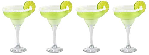 Epure Firenze Collection 4 Piece Margarita Glass Set – Classic For Drinking Margaritas, Pina Coladas, Daiquiris, and…