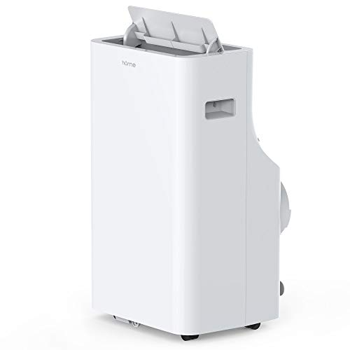 hOmeLabs 14,000 BTU Portable Air Conditioner – Quiet AC Cools Rooms 550 to 700 Sq. Ft. – Includes Remote Control and 100 Pint Dehumidifier Function