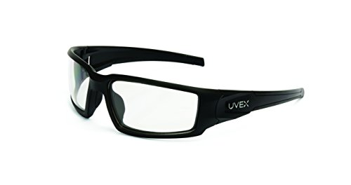 Uvex by Honeywell Hypershock Safety Glasses, Black Frame with Clear Lens & Uvextreme Plus Anti-Fog Coating (S2940XP)