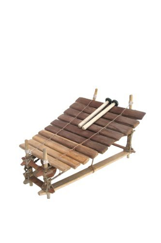Classic Heartwood Gyil with Mallets - 10 Key C Pentatonic - Xylophone Balafon Marimba from Ghana by Africa Heartwood Project