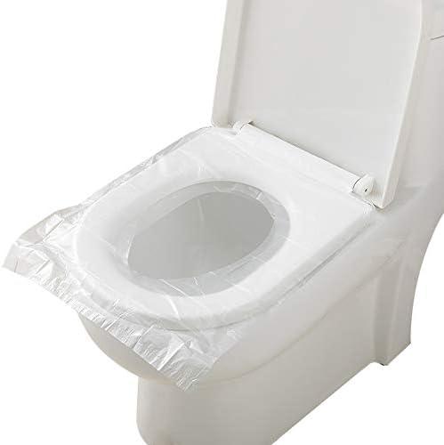 10個使い捨てトイレパッド女性旅行ネスト型ポータブル母体旅行トイレトイレ便座クッション紙 白
