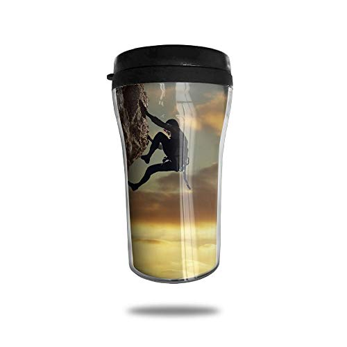 Ice Rock Climbing - HJGKFL Rock Climbing Outdoor Sports Ice Coffee Small Coffee Cup Carrying Hand Cup Reusable Plastic Curve Travel Cup Coffee Cup Asymmetric Men Children Teen Adult