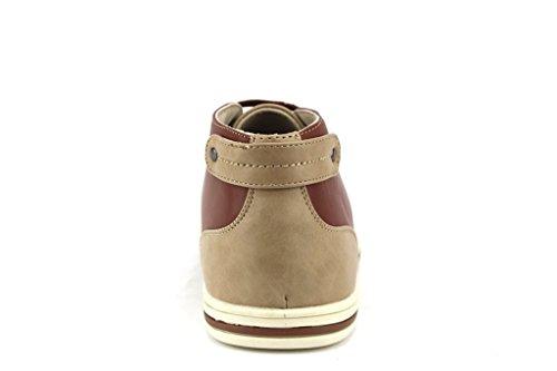 Nouveau Mens 63312 Cheville À Profil Bas Haute Casual Chukka Bottes Camel / Tan