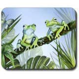 Green Frogs Mouse Pad 9*7.5inch