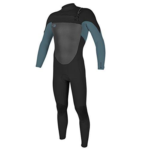 O'Neill Men's O'Riginal 3/2 mm Chest Zip Full Wetsuit, Black/Blue, Medium (Medium Tall Wetsuits)