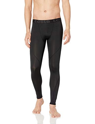 TSLA TM-MUP19-KLB_Large Men's Compression Pants Baselayer Cool Dry Sports Tights Leggings MUP19 -