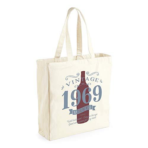 50th Birthday, 1969 Keepsake, Funny Gift, Gifts For Women, Novelty Gift, Ladies Gifts, Female Birthday Gift, Vintage Red Wine, Ladies, Shopping Bag, Present, Tote Bag, Gift Idea