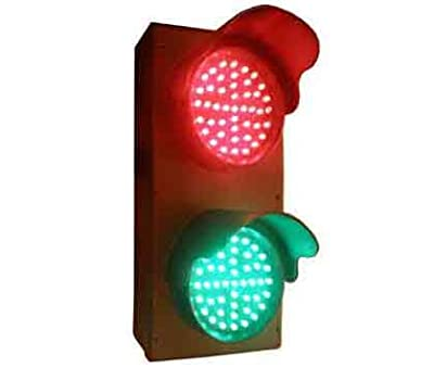 Signaworks Industrial 4 Inch LED Industrial Traffic Light or Dock Bay Light Stop Go Indicator