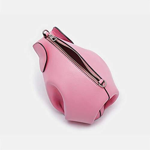 A Mano Pink Leisure Vera Borse Donna Tracolla A Mano A Pelle Leisure In Borse Multifunzione Da Mano Borsa A Clutch Borse Elefante 1vwzqFC