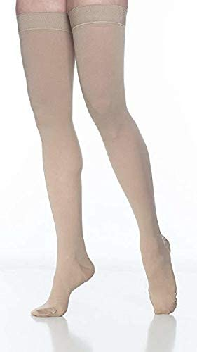 SIGVARIS Women/'s DYNAVEN Closed Toe Thigh-Highs w//Grip-Top 20-30mmHg