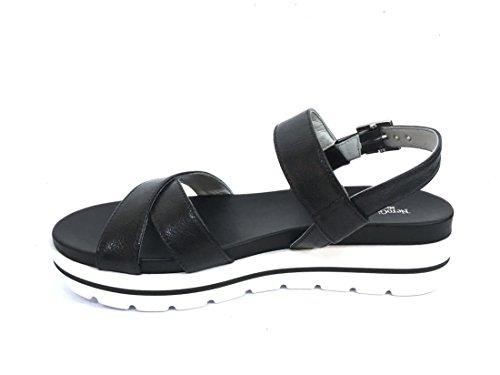 17801 NERO Scarpa donna sandalo Nero Giardini pelle made in italy