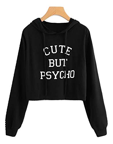207aecdd0f9 Digital Dress Women s Cotton Hoodies Sweatshirt Cute But Psycho Long Sleeve  Hooded Sweatshirt Blue Warm Hoodies Tracksuit Autumn Winter Top T-Shirt  Sweat ...