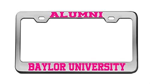 DIY Rine Alumni Baylor University Chrome License Plate Frame Tag -