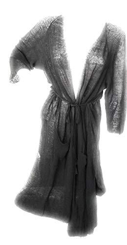 - ELLEN TRACY. Belt Open Front Duster Cardigan Sweater Coal/Gray, L