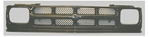 Chevy S10 Blazer Gloss - 3 Bar Gloss Black Grill Mesh Style Grille for Chevy Pickup Truck Blazer S10