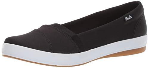 Keds Women's Carmel Twill Sneaker, Black, 7