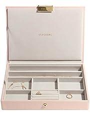 Stackers Różowy i szampański złoty klasyczny średni pojemnik na biżuterię pokrywka