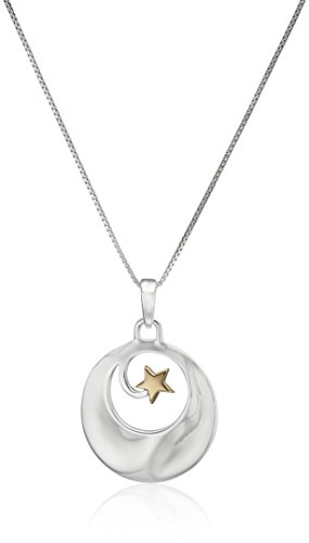 Two Tone Sterling Inspirational Pendant Necklace