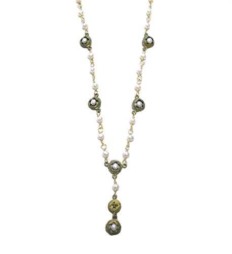''Eucalyptus & Pearls'' Necklace By Michael Michaud for Silver Seasons- Ours Exclusively by SILVER SEASONS