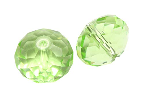 (24 6mm Adabele Austrian Rondelle Crystal Beads Peridot Green Rondelle Spacer Compatible with 5040 Swarovski Crystals Preciosa SS1R-616)