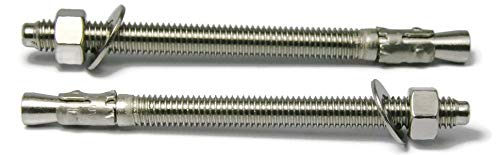 Stainless Steel Wedge Anchors 3/8'-16 Concrete Expansion Anchors 304 Stainless Steel RAW Products Corp