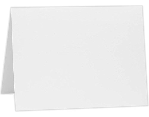 8 x 7) - 80lb. Bright White (50 Qty) | Perfect for Personal Stationery, Invitation Suite Inserts & Casual Correspondence! | A7FW-50 (4 Bar Flat Card)