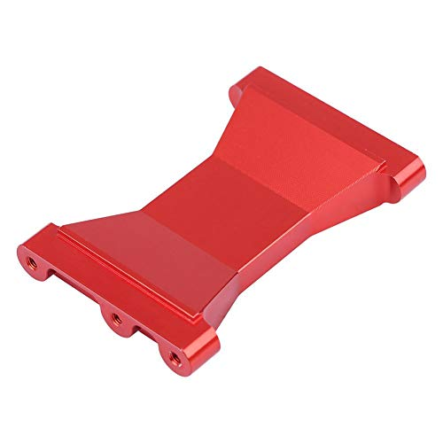 (Dilwe RC Car Chassis Crossmember, Aluminum Alloy Back Chassis Crossmember Bracket for TRX-4 RC Crawler Car Replacement Part(Red) )