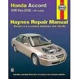 img - for Honda Accord 1998 thru 2002 Publisher: Haynes Manuals, Inc. book / textbook / text book