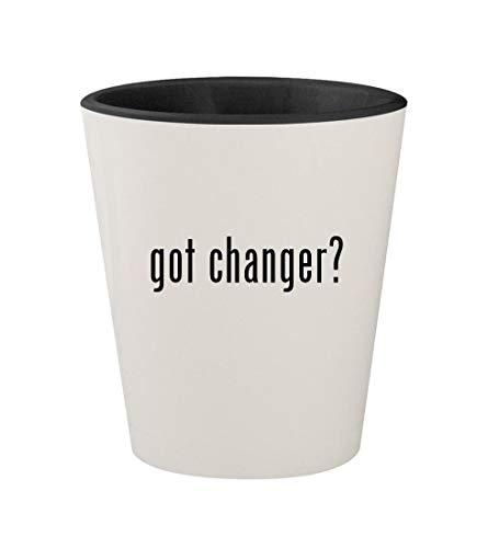 got changer? - Ceramic White Outer & Black Inner 1.5oz Shot Glass