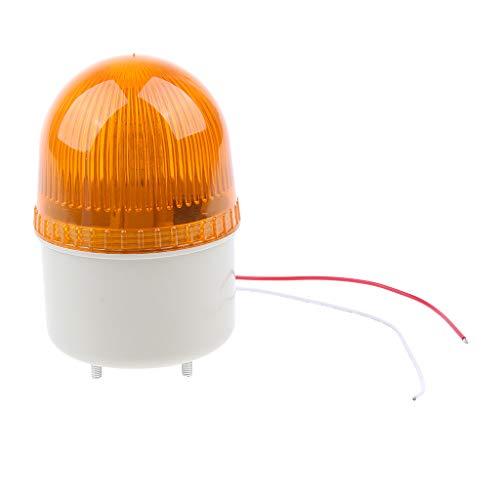 Homyl 12V Strobo Warning Light Signal Beacon Yellow with Audible Alarming, of Single stroboscopic Light Mode