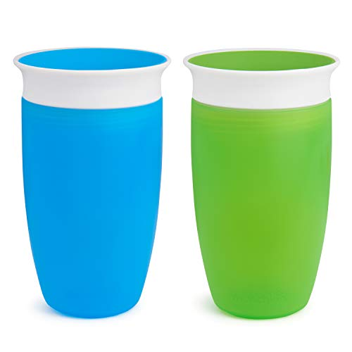 Munchkin Miracle 360 Sippy Cup, Green/Blue, 10 Ounce, 2 Count ()