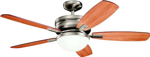 Kichler 300138AP 52`` Ceiling Fan (Ceiling Carlo White Fan Monte Antique)
