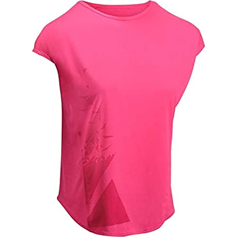 3f273b69a Buy Domyos 120 Women's Loose-Fit Cardio Fitness T-Shirt - Pink Print ...