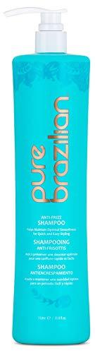 1l Vanity Light - Pure Brazilian - Anti Frizz Daily Shampoo With Pump-Salt-Free, Color Safe, With Keratin, Argan Oil, and Acai (1 Liter/ 33.8 Fl. Ounces)