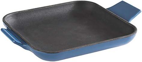 Servierpfännchen aus Gusseisen emailliert grau Ø 13 cm