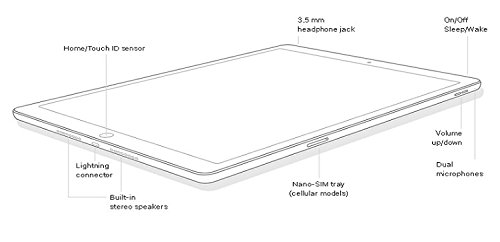 Apple iPad mini 4 Tablet (128GB, Silver, 7.9 Inch, 2017 Model, WiFi) + Accessories Bundle (10,000mAh iPad Power Bank, iPad Stylus Pen, Microfiber Cloth) MK9P2LL/A by Apple Tablet (Image #4)