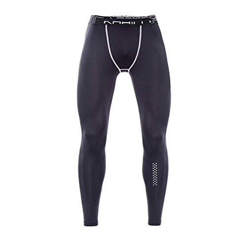 通り抜ける福祉練るZhhlaixing メンズ Thermal コンプレッション タイツ Baselayer Leggings Skin Tights Running Gym Workout Pants & Fleece Lined