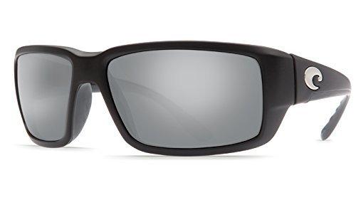 Costa Del Mar Fantail 580G Fantail, Matte Black Global Fit Silver Mirror, Silver - Mirror Silver Del Costa Mar Fantail