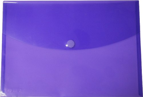 Filexec Poly Envelope, Legal, Side-Load, Velcro Closure, Trapezoid Flap, Purple (Pack of 6) (50082-17104)