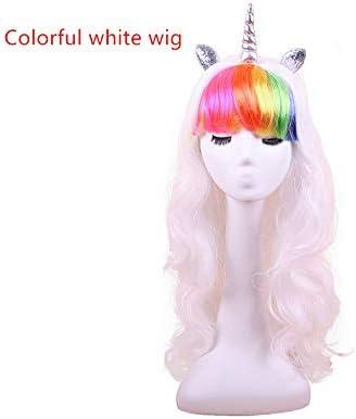 Peluca de pony con diadema y cuerno para Halloween, cosplay ...