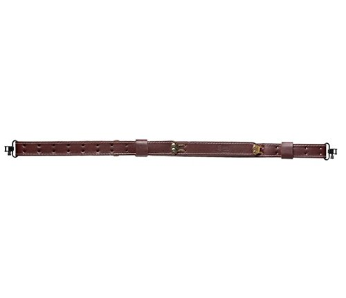 Bandera USA Leather Rifle Sling - Military Style: Cherry Brown